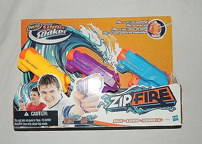 New Nerf Super Soaker Zip Fire 3 Pack Purple Blue Orange  Water Gun Squirter