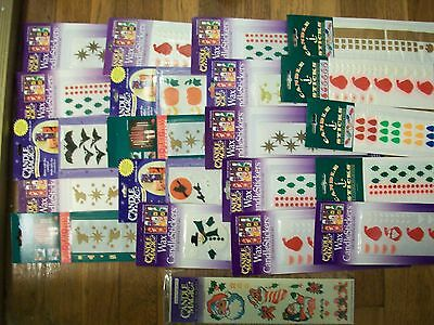 Candle magic & candle sticks wax stickers christmas & Haloween lot 20