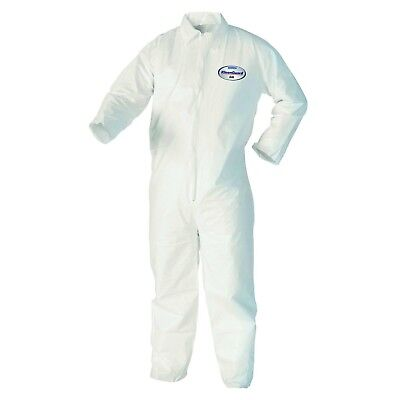 Kleenguard A40 Liquid & Particle Protection Coveralls Zip Front, White, Medium,