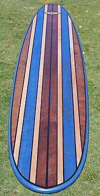 7FT Wood Surfboard Longboard Table Wall Art Beach California Surf BLUE!