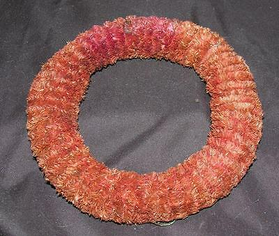 "1940's Vtg 6 1/4"" Medium Size Red Chenille Xmas Wreath, Crafts, To Decorate!"