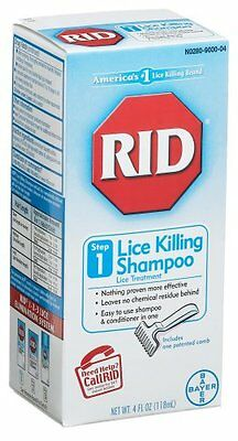 RID Lice Killing Shampoo, Step 1, 4-Ounce Bottle with Comb