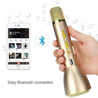 Wireless Stereo Karaoke Player Microphone Bluetooth Speaker KTV Rose Gold K068