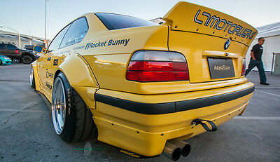 Kit Extensions D'ailes Bmw E36 Coupe Rocket Bunny Style -Passages De Roues Drift
