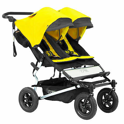 Mountain Buggy 2016 Evolution Duet Double Stroller Cyber w/ Carrycot! Free Ship!