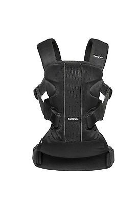 BABYBJORN Baby Carrier One - Black  Mesh, Cotton Mix.. NEWEST Style