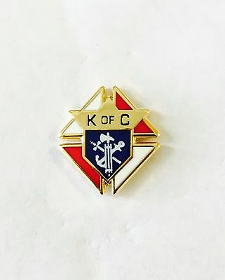 Knights of Columbus Emblem Lapel Pin 1/2 Inch Gold Plated