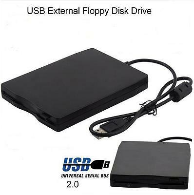 Floppy Disk Drive 1.44MB External USB Portable Diskette for Windows / Mac Black