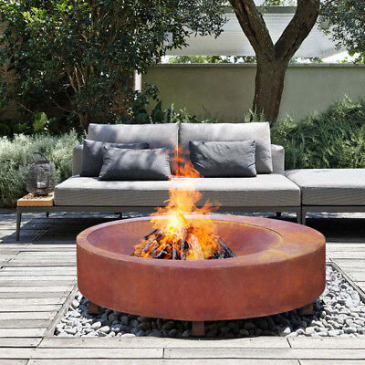 NEW HUGE MODERN HEAVY Montana 100cm Fire Pit 3mm Bowl Outdoor Fireplace Patio