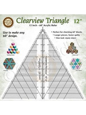 Clearview Triangle Ruler 12 inches for Quilting and Cutting Patterns