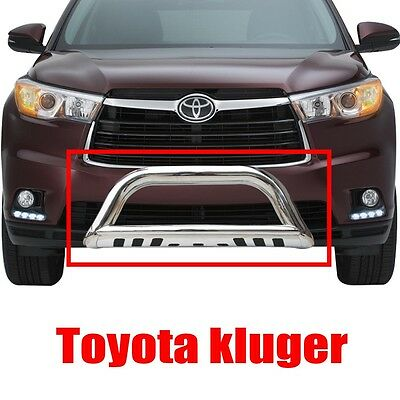 3'' 2014-2015 Toyota Kluger Stainless Steel Nudge Bar Grille Guard +Skid Plate
