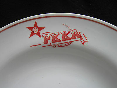 """red Army"" Officer Porcelain Deep Plate 1936 / ""rkka"""