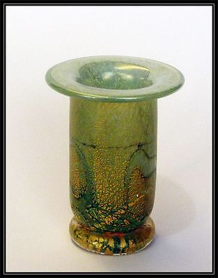 Isle of Wight studio glass candle holder
