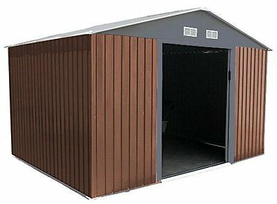 Metal Garden Shed 10x12 Outdoor Storage with Free Foundation 10ft x 12ft WOOD