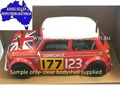 Classic Mini Cooper Clear Lexan Body Shell fo 1:10 RC MINI Tamiya M06 M05 - Colt