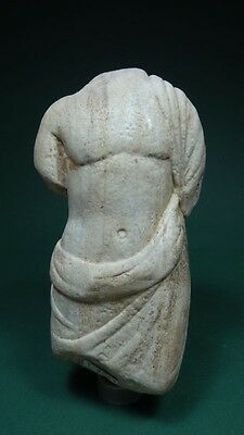 Ancient Male Torso  Marble Roman 100-300 Ad