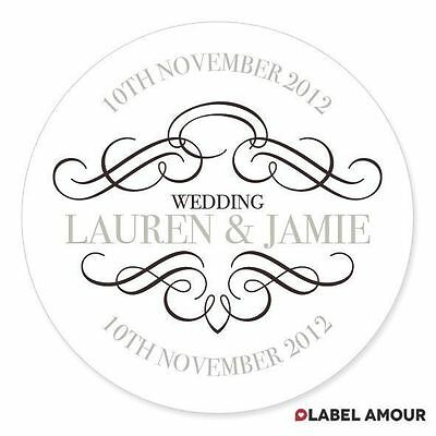 PERSONALISED Anniversary Wedding Gift Favour Sticker Seals Labels | Hawkins