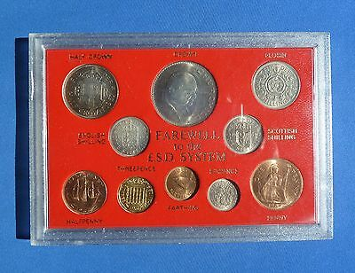 Cased Coin Set Farewell To £.s.d. System