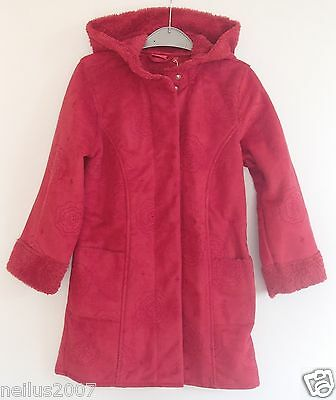 BNWT Designer Tigerlily Red Long Hooded Embroidered School Smart Coat Age 7-8