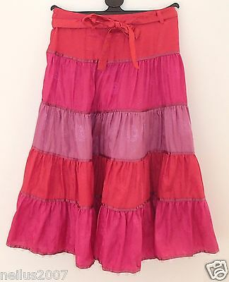 BNWT Girls Pink Elasticated Monsoon Sequenced Skirt Age 6-8