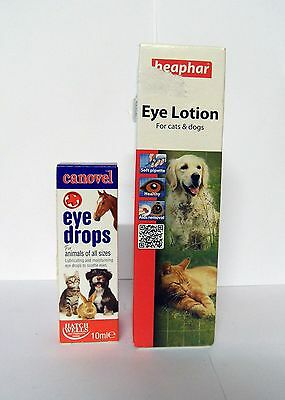 Canovel Eye Drops PLUS Beaphar Eye Lotion for Cats & Dogs.