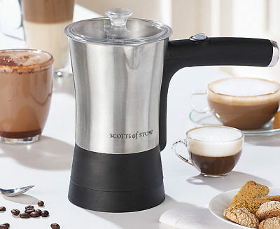 Scotts of Stow Electric MILK Frother Made of Brushed Steel