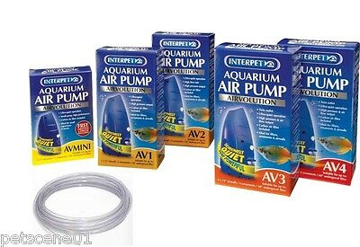 Interpet Airvolution Aquarium Air Pump Mini Av1 Av2 Av3 Av4 Airline