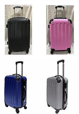 "Ryanair Hard Cabin Approved Spinner Trolley Luggage Suitcase Bag Case20"" 4COLOUR"