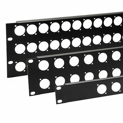 19 Inch Punched Rack Panel - 1U - 12 Holes