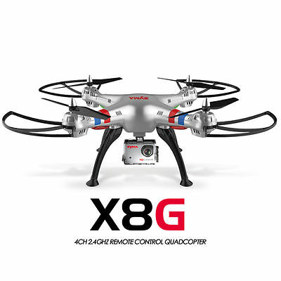 Syma X8HG Drone RC 8MP HD Camera 4CH Red Quadcopter X8G Upgraded Version