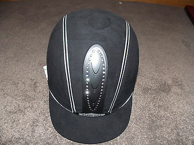 Harry Hall Legend Crystal Riding Hat Bnwt Size 60 Adult Black Rrp £85.99