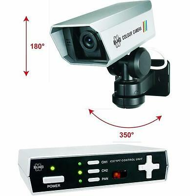 Elro CS71PT Wired Colour Rotating CCTV Digital Camera and Control Box and Remote