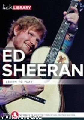 LICK LIBRARY Learn to Play ED SHEERAN SONGS LESSON GUITAR DVD THINKING OUT LOUD