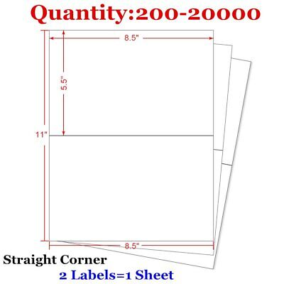 200-20000 8.5x5.5 Shipping Postage Label Half Sheet Self Adhesive for FedEx USPS