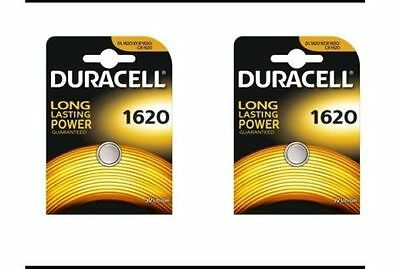 2 x Duracell CR1620 3v Lithium Batteries 1620 DL1620 Best Before 2025