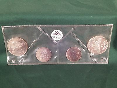 1973 Haiti 4 Coin Silver Proof Set, Mint Sealed
