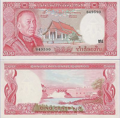 """Laos 1000 Kip Banknote 1968 Uncirculated Condition Cat#14-A-8694""""King"""""""