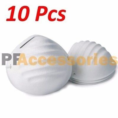 10 Pcs Disposable Face Dust Mask w/ Strap Breathing Filter for Painters