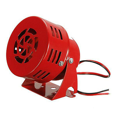 12V Automotive Air Raid Siren Horn Car Truck Vtg Motor Driven Fire Ed