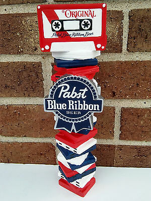 Pabst Blue Ribbon 'Stack of Cassettes' Boombox Radio Beer Sign Tap Handle..NIB.