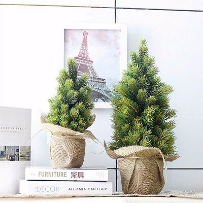 Refinement Green Artificial Christmas Tree with Stand DIY Decor for Kids Gift