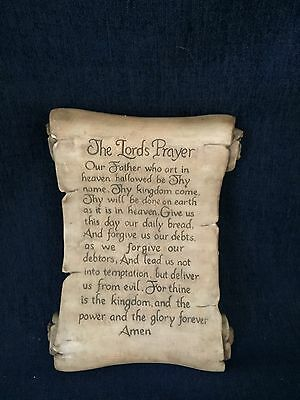 The Lord's Prayer On Polyresin Scroll