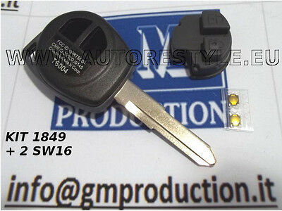 COVER E BUTTONS for remote control Key FIAT 16 SEDICI WITHOUT LOGO e SWITCHES