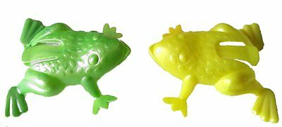 Bulk Lot x 10 Kids Jumping FROGS 6cm Assorted Colours Party Favor Novelty Toys