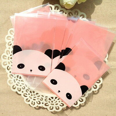 Plastic Resealable Biscuit Bags China Panda Self-Adhesive About 100pcs