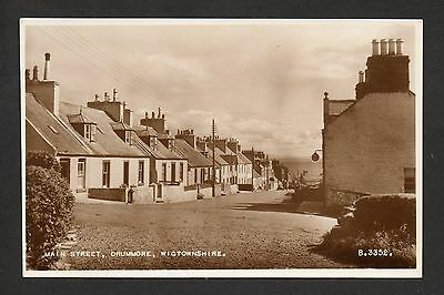 Drummore - Main Street - real photographic postcard