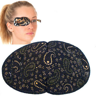 Medical Eye Patch, For Glasses LARGE DARK GREEN/BROWN, Soft and Washable