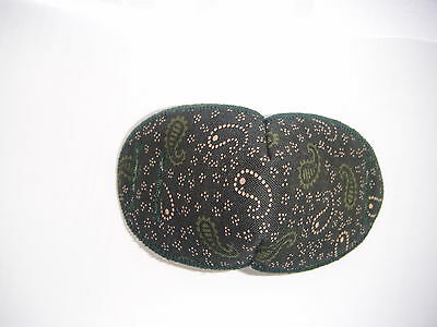 Medical Eye Patch, For Glasses REGULAR DARK GREEN/BROWN, Soft and Washable