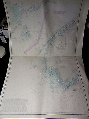 "BAY of FUNDY CANADA Nova Scotia SEA NAVIGATION Map Chart 28"" x 41"""
