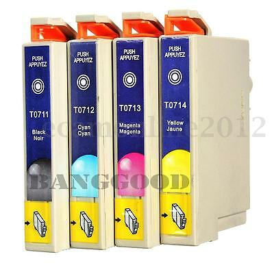 1 or 4 Ink Cartridge Non-oem Chipped Fit For Epson Stylus T0711 SX100 BX300 B40w